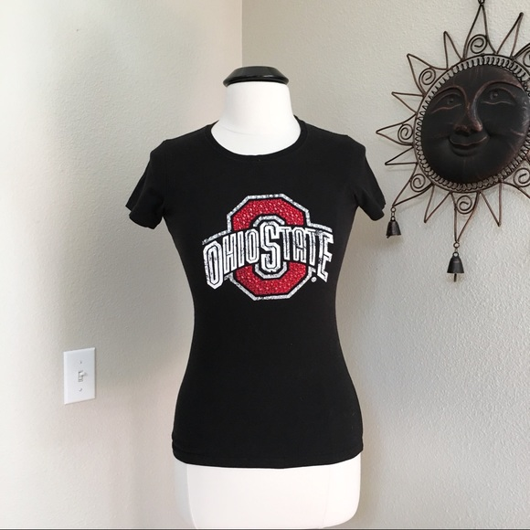 1d5ffc15 Campus Couture Tops | Osu Buckeyes Rhinestone Tshirt Size Small ...